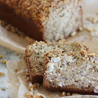 Banana Nut Bread with Streusel Nut Topping