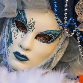Carnival masks by Viorel Stanciu - People Street & Candids ( peoples, carnival, woman, venice, masks, italy, eyes )