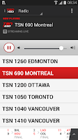 Screenshot of TSN GO