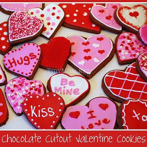 Chocolate {Valentine} Cutout Cookies