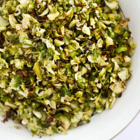 Shredded Brussels Sprouts with Parmesan