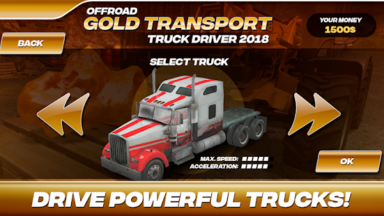 Offroad Gold Transport Truck Driver