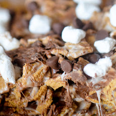 No-bake Smores Graham Krispie Treats
