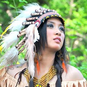 Beauty Pocahontas by Ririen Yunus (ryu031) - People Portraits of Women ( ais fabregas, arif cubenk, arianto balango, anggi stya, aamir soomro )