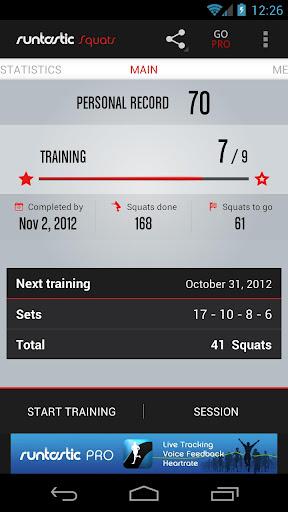 Runtastic Squats Workout screenshot 1
