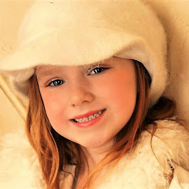 The White Hat by Cheryl Korotky - Babies & Children Child Portraits