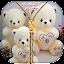 Taddy Bear Zipper Lock Screen