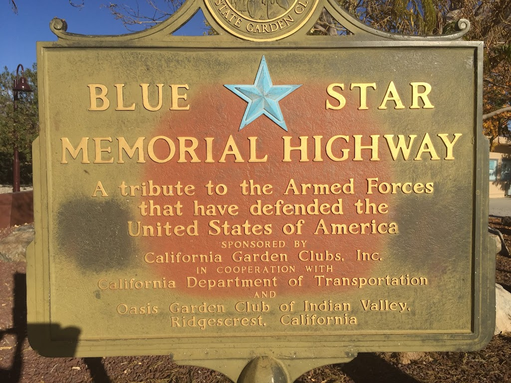 Blue Star Memorial Highway A tribute to the Armed Forces that have defended the United States of America Sponsored by California Garden Clubs. Inc. In cooperation with California Department of ...