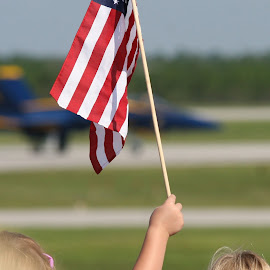 Blue Angels by Jeff Whitten - Landscapes Travel ( patriotic, american flag, 4th of july, fighter jet, military, blue angels )