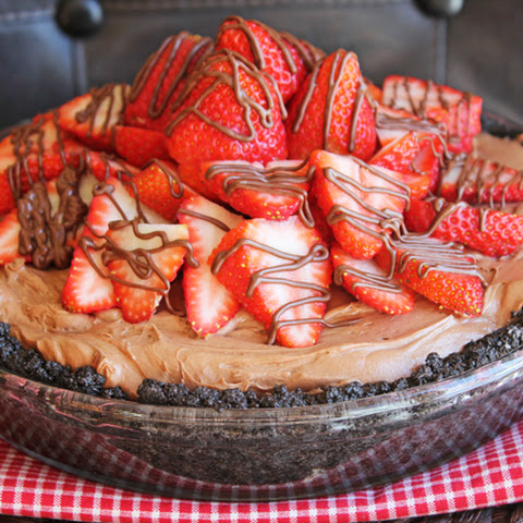 Nutella Strawberry Pie