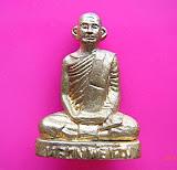 226 รูปหล่อหลวงพ่อเดิม กล่องเดิม ลอยองค์โบราณพิมพ์ฐานสูงย้อนยุค เนื้อทองเหลืองผสมมวลสารมีดหมอ วัดหนอ