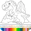 Dino Coloring Game for Lollipop - Android 5.0