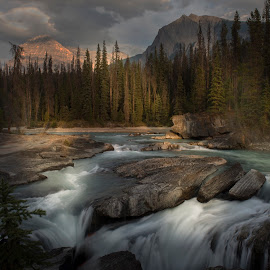 Falls in broken light by Clement Stevens - Landscapes Waterscapes ( stream, falls, light )