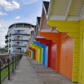 beach hut leading lines by Eloise Rawling - Buildings & Architecture Places of Worship ( shed, leading lines, hut )