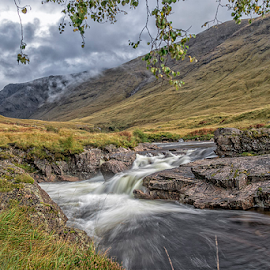 Mountain Stream by Mandy Hedley - Landscapes Mountains & Hills ( water, scotland, glencoe, stream, mountain, rocks,  )