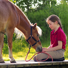 Lovely by Giselle Pierce - Babies & Children Children Candids ( horse, miniature horse, child )