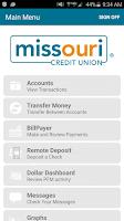 Screenshot of MCU Mobile Banking