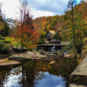 Babcock Stat Park, WVA. 2 by Dave Walters - Landscapes Waterscapes ( old mill, lumix fz200, colors, fall, babcock stat park, water view,  )