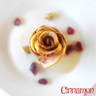 Cinnamon Rolls with Rose Flavored Apples