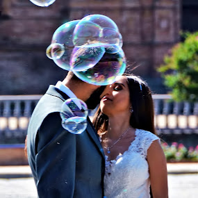 Love bubbles by Francis Xavier Camilleri - People Couples