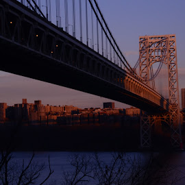 New York sunset on the bridge by Phillip Triantos Triantafillou - Buildings & Architecture Bridges & Suspended Structures