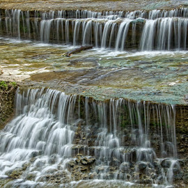 Airfield Falls by Kevin Whitaker - Landscapes Waterscapes