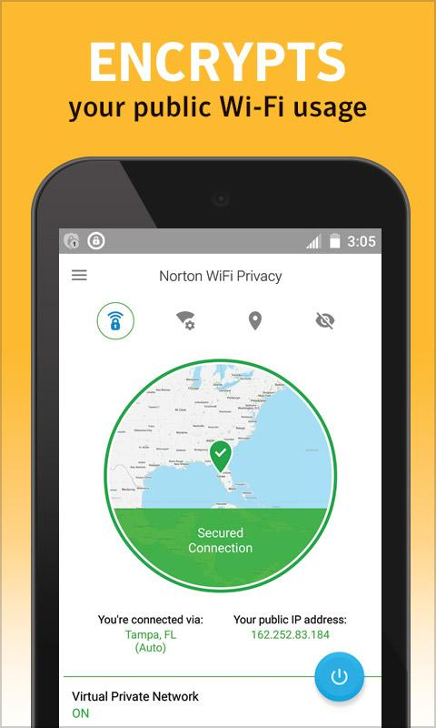 Norton WiFi Privacy Secure VPN Screenshot 1