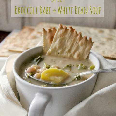 Spicy Broccoli Rabe & White Bean Soup