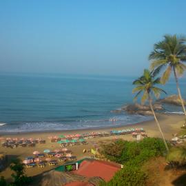 Vagator Beach by Aniketh Mallabadi - Instagram & Mobile Android ( sony, vagator, xperia, blue, goa, india, beach )
