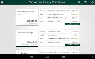 Screenshot of Central One FCU