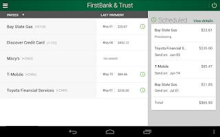 Screenshot of FirstBank & Trust