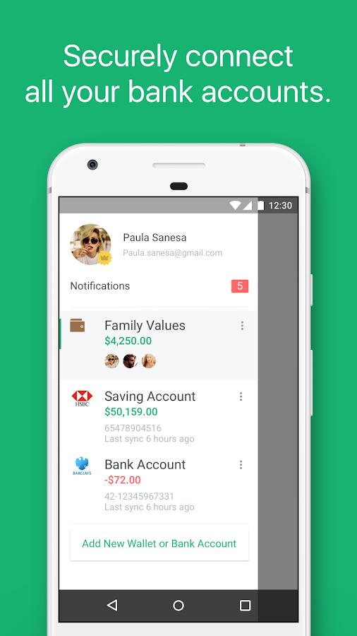 Spendee - budget and expense tracking & bank sync Screenshot 1
