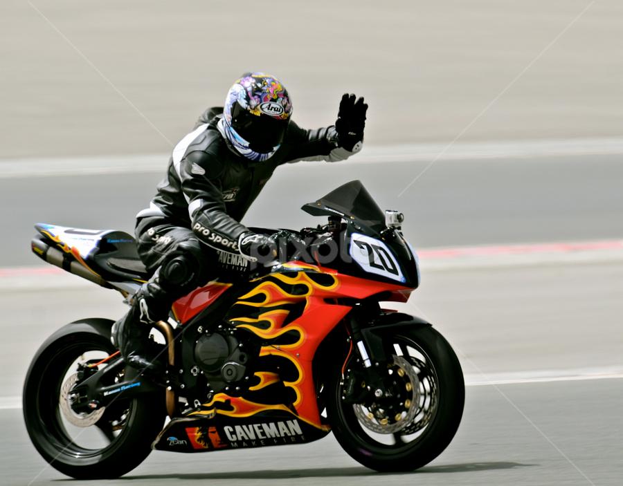 Wave by Mauritz Janeke - Sports & Fitness Motorsports ( lol, motorbike racing, bikes, racing, victory lap, motorsport,  )