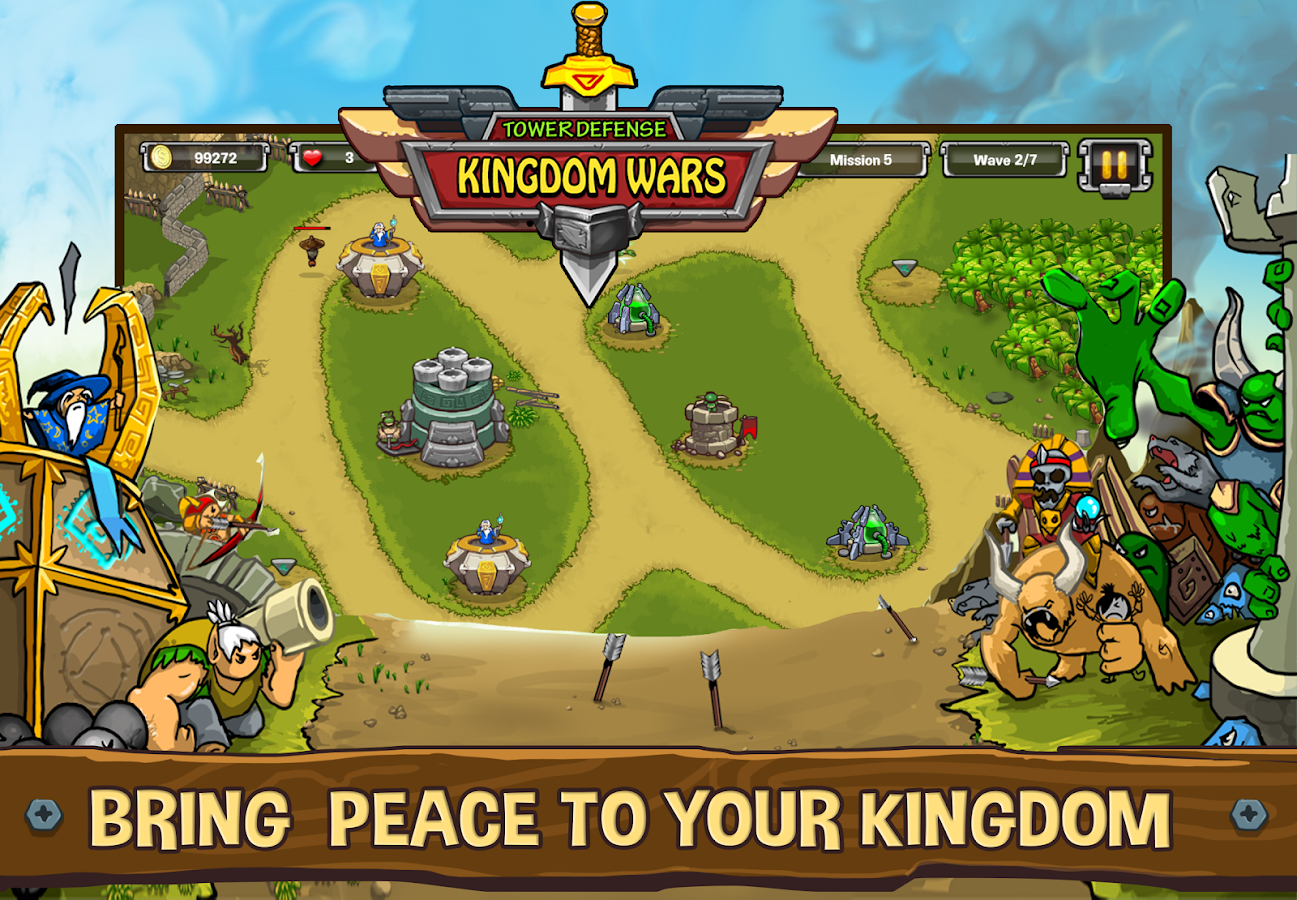 Tower Defense Kingdom Wars Defender TD Games APK Cracked Free - Minecraft defence spiele