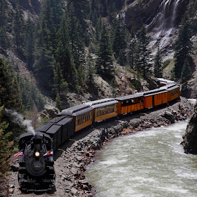 D&S Coming Out Of  The Canyon by Gerard Pascazio - Transportation Trains (  )