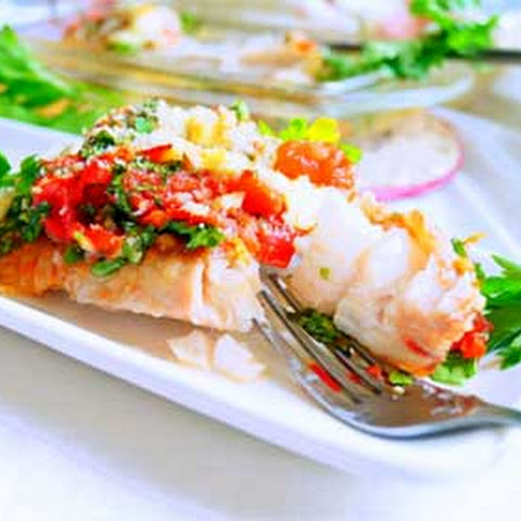 Red Grouper with Tomatoes and Cheese