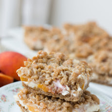 Peaches N Cream Crumble Bars
