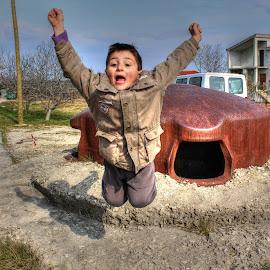 Jump by Mirela Totić - Babies & Children Children Candids ( joyful, joy, street, kids, jump )