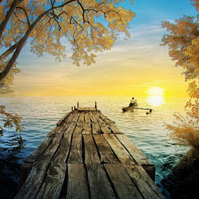 Sailing to The Sun by Ketut Manik - Landscapes Waterscapes