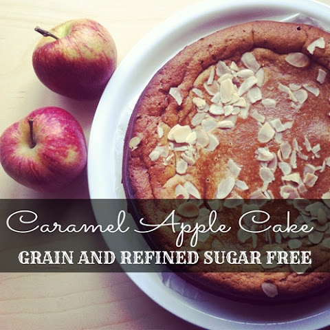 Caramel Apple Cake with Salted Caramel Sauce (grain free, refined sugar free, Paleo)
