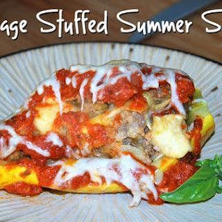 Sausage Stuffed Summer Squash Recipes