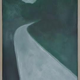 Langzaam aan een eind verder by Kris Van den Bossche - Painting All Painting