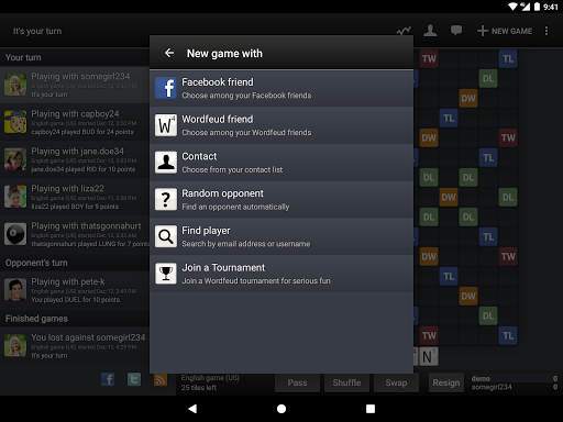 Wordfeud FREE screenshot 11
