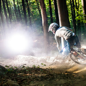 Dusty track by Mario Novak - Sports & Fitness Cycling