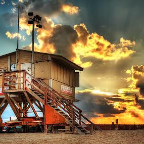Tel Aviv Beach by Jojo Valerio  - Landscapes Beaches