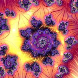 Swirl , Colorful by Cassy 67 - Illustration Abstract & Patterns ( swirl, fractal art, digital art, fractal, flowers, digital, flower )