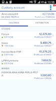 Screenshot of Nordea Mobile Bank – Finland