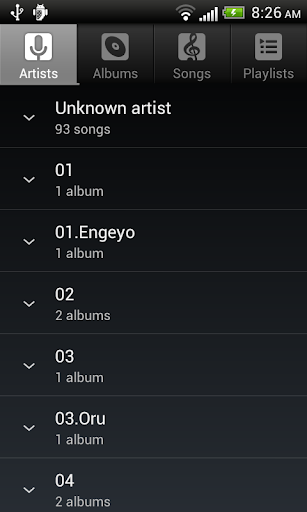Default Music Player screenshot 2