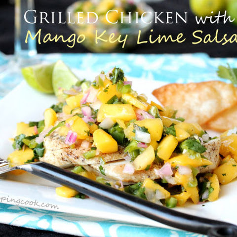 Grilled Chicken and Mango Key Lime Salsa