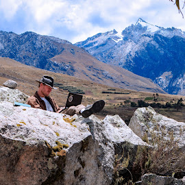 Andean Internet by Todd Dubé - People Street & Candids ( clouds, mountains, mountain, peru, south america, cloud, candid, travel, people, rustic, rural, travel photography )